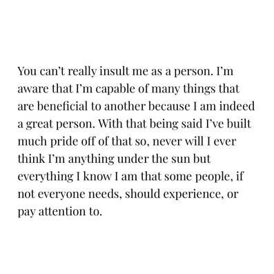 from me, about me, to you